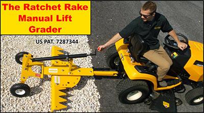 Ratchet Rake Llc All Terrain Rake Snow Edge Tractor